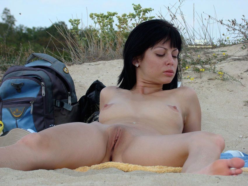 Women almost open filmed nude beach spreads legs